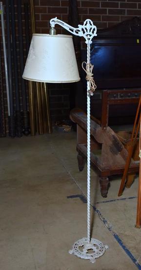 Antique Iron Bridge Floor Lamp