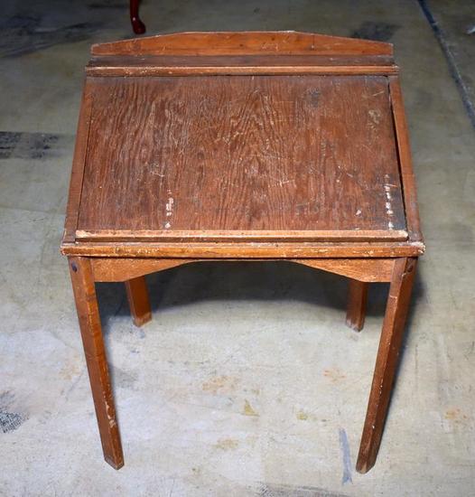Old Pine Slant Top Child's Desk