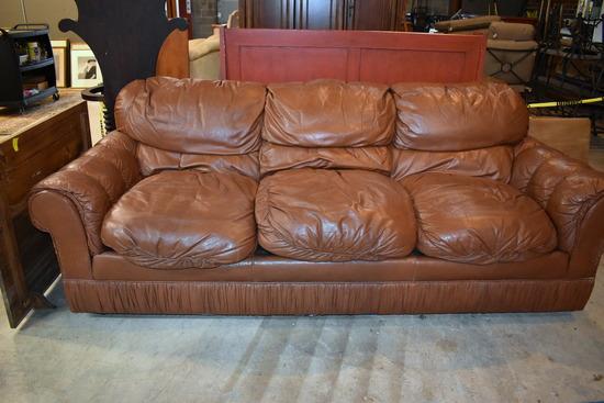 Fairington Brown Leather Sofa