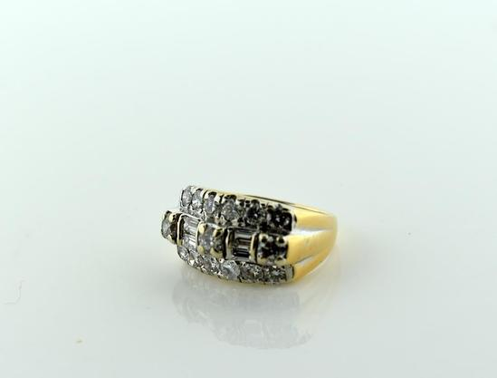 1.5 Carat Diamond & 14K Yellow Gold Ladies Antique Anniversary Band, Size 4.75