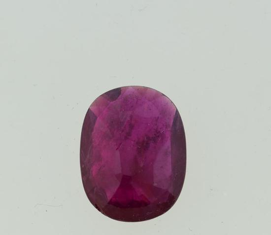 12.9 Carat Natural Ruby, Oval Cushion Cut