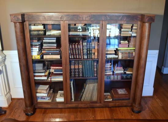 Antique Empire Mahogany Bookcase