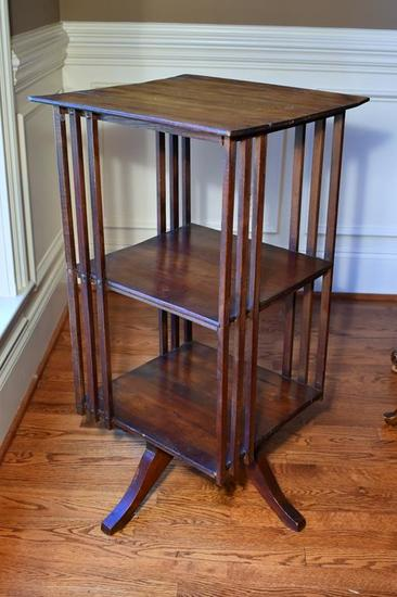 Antique Oak Revolving Bookstand