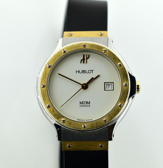 Authentic Hublot MDM Geneve Women's Wristwatch, Gold & Stainless Steel