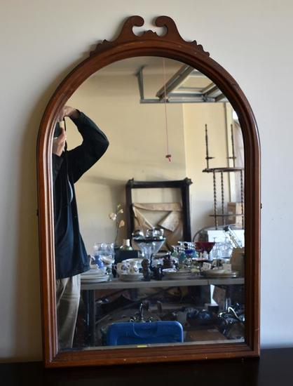 Domed Carved Frame Vanity Mirror