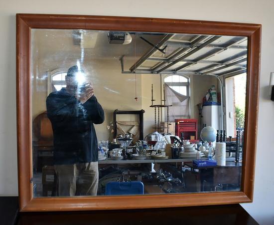 Large Rectangle Wood Frame Mirror