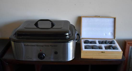 Sivan Professional Massage Stone Warmer with Stones—Never Used