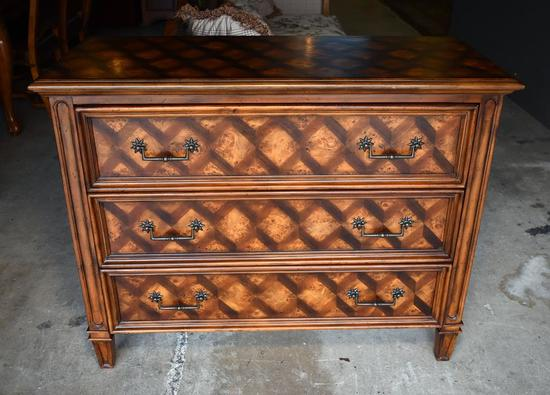 "Exquisite Hooker Furniture ""Seven Seas"" Diamond Parquet Hall/Foyer Commode"