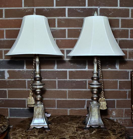 Pair of Contemporary Nightstand Lamps