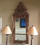 Raschella Collection Gilded Wall Mirror, Beveled Glass