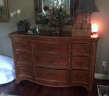 Hooker Furniture Nine Drawer Cherry Dresser