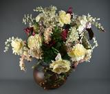 Artificial Floral Arrangement Decor in Round Vase
