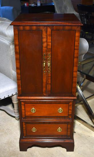 Attractive Contemporary Tradition House Collection Mahogany Jewelry Armoire, Green Lining