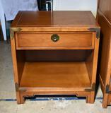 "Vintage Drexel ""Compass"" Mid-Century Modern Nightstand with One Drawer & Shelf, Lots 31-34 match"