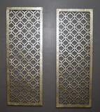 Pair of Contemporary Decorative Metal Wall Grills