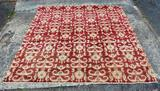 Beautiful Contemporary Rug & Home Red & Gold 7.5 x  8' Oriental Rug