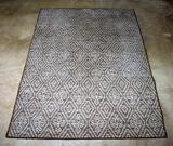 Contemporary Grey Tone Geometric Design 5 x 7' Rug