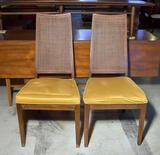 Pair of Vintage Mid-Century Modern Side Chairs with Cushioned Seats