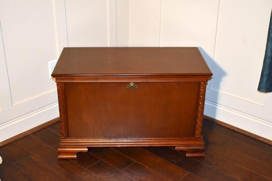 Contemporary Wood Cedar-Lined Blanket Chest