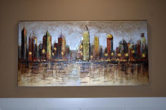 Cityscape Decorative Wall Art on Canvas