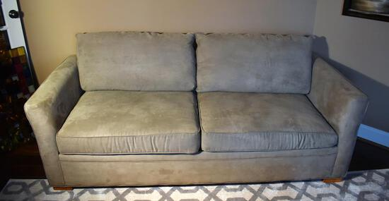 Light Sage Faux Suede Overnight Sofa Brand Queen Sofa Bed