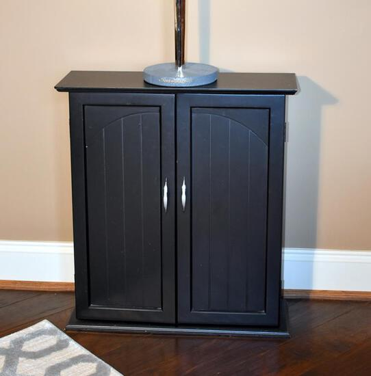 Small Black CD/DVD/Video Game Storage Cabinet