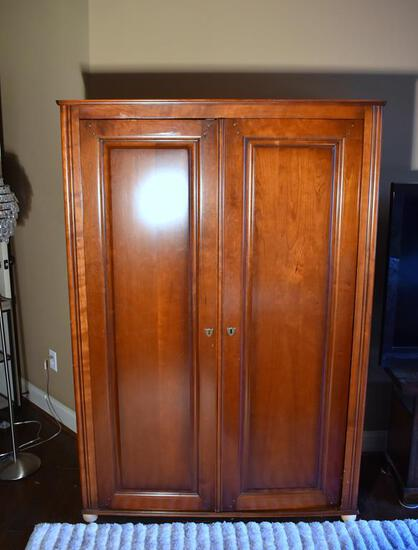 Cherry Entertainment Media Armoire, Hiding Doors