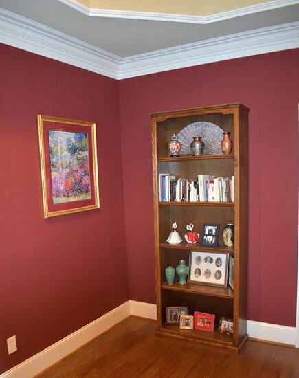 Tall Sturdy Oak 5-Shelf Bookcase
