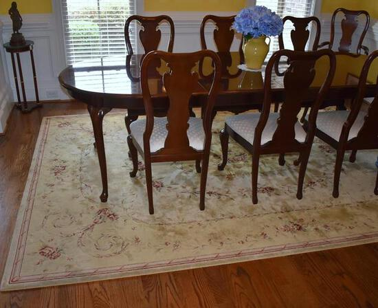 Set (4) Beautiful Thomasville Mahogany Queen Anne Dining Chairs, (2 Master, 2 Side), Lots 3-6 Match