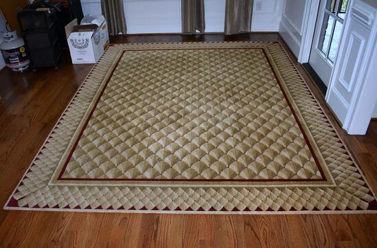 """Beautiful Clean 7' 6"""" x 9' 5"""" Rug, Gold & Red"""