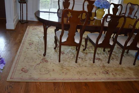 """Nourison Chambord Collection 7' 9"""" x 10' 10"""" Rug, Hand-Serged & Hand Carving, Viscose Fiber"""