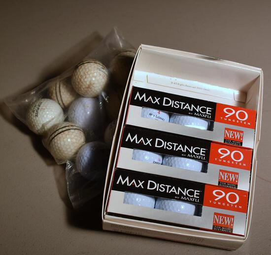 Lot of New MaxFli Golf Balls & Used Balls: Spalding, Top Flite, Slazenger
