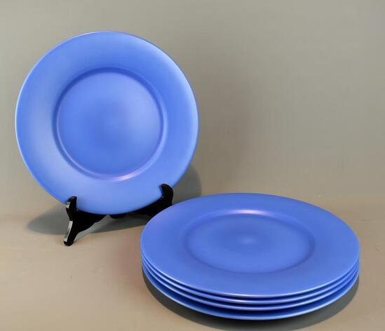 5 Stunning Blue Gien, France Dinner Plates