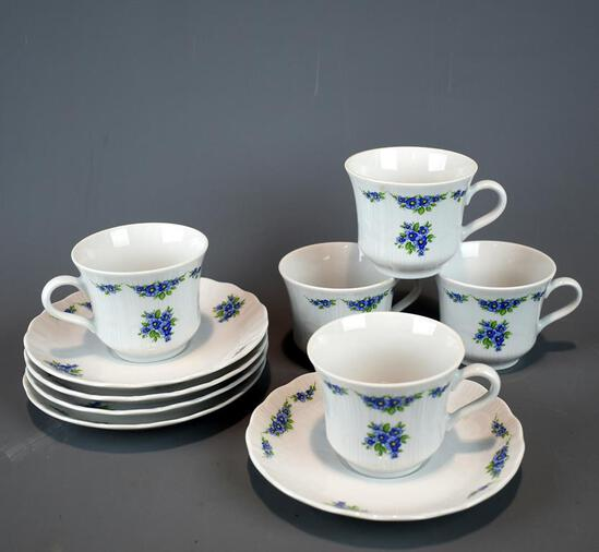 5 Winterling China Cups & Saucers, Bavaria