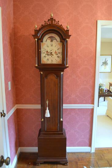 Wonderful Sligh Simon Willard Henry Ford Museum Mahogany Grandfather Clock (See Link in Description)