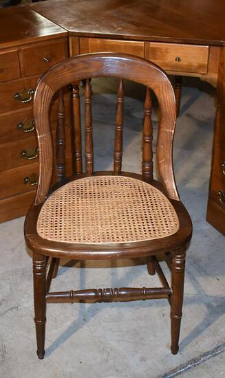 Vintage Caned Seat Bow Back Chair (Authentic Ford Museum Reproduction)