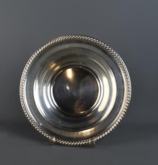 Rogers Sterling Silver Reticulated Rim Bowl