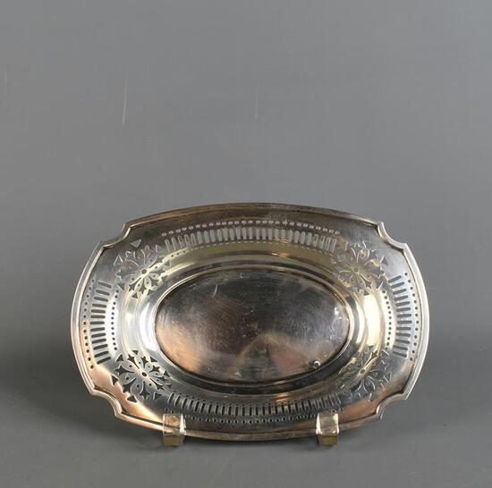 Gorham Sterling Silver Pierced Rim Nut Dish