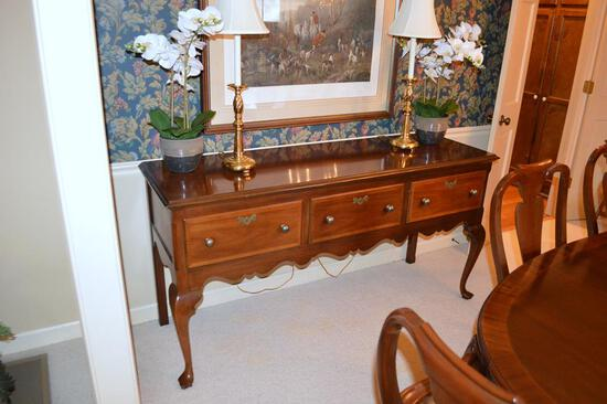 American Masterpiece Collection by Hickory Furniture Queen Anne Style Mahogany Sideboard