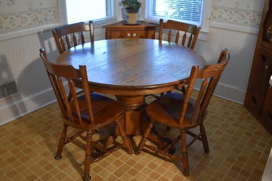 Set of Six Vintage Oak Windsor Style Dining Chairs