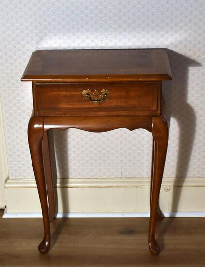 Small Hallway Table by Butler with Inlaid Top