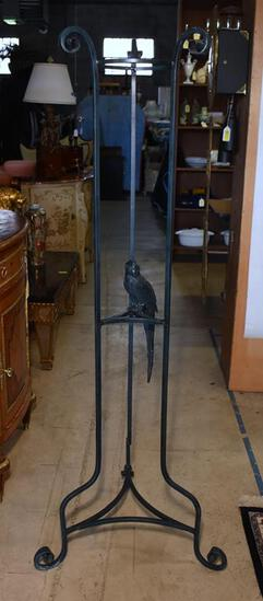 Fabulous Wrought Metal Tall Plant Stand with Parrot Bird Accent (Lots 8 & 9 Match)