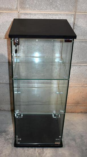 Fine Contemporary Glass Display Cabinet with Lock & Key