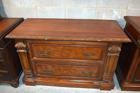 Large Scale Carved Detail Two-Drawer Chest