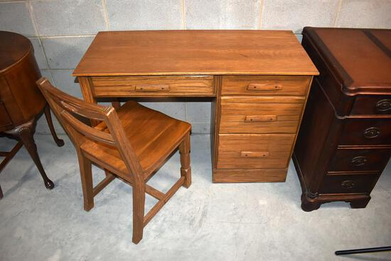 "Quality ""Ranch Oak"" by Brand Furniture Bedroom Desk & Chair"