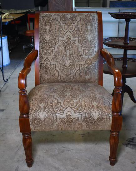 Attractive Tapestry Upholstered Contemporary Armchair
