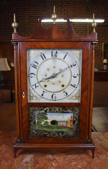Eli Terry Pillar & Scroll Shelf Clock, Plymouth, Connecticut, Ca. 1820