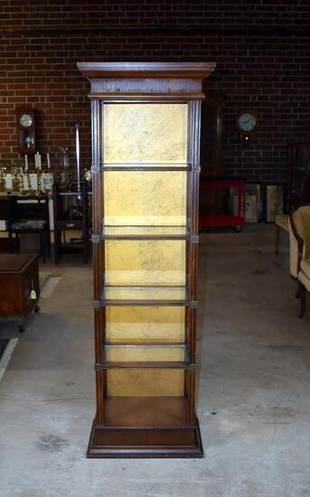 Tall Narrow Pier Shelf with Glass Inserts