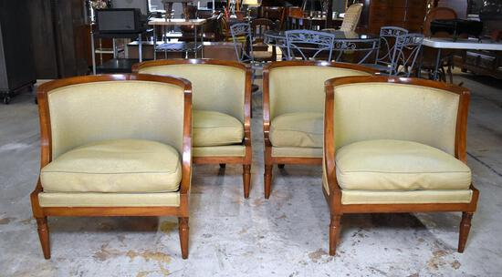 Lot of Four Vintage P. Nathan Sons, NYC Mid-Century Modern Club Chairs