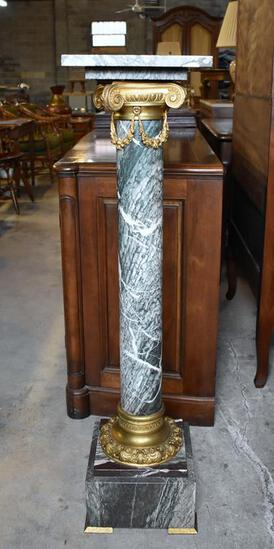 French Empire Style Marble Column Pedestal